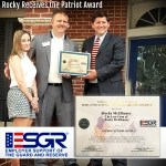 Rocky Receives the Patriot Award resized