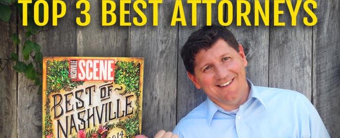 2014 Nashville Scene, Best of Nashville Top 3 Best Attorney