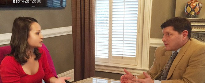 WZTV Fox 17 Nashville News Reporter, Jen French sits down with Tennessee Car Wreck Attorney, Rocky McElhaney to pick his brain about her special Waste Watch investigation into MNPD cop crashes and disappearing dash cam video of officer-involved crashes.