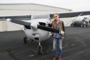 2018 Max McElhaney Memorial Educational Scholarship Winner- Savannah Eller, Piloting a Plane