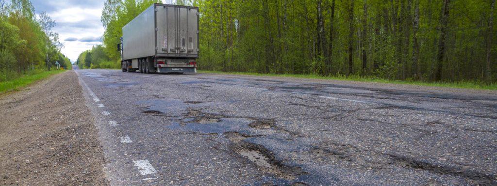 Road Defect Truck Accident - Potholes